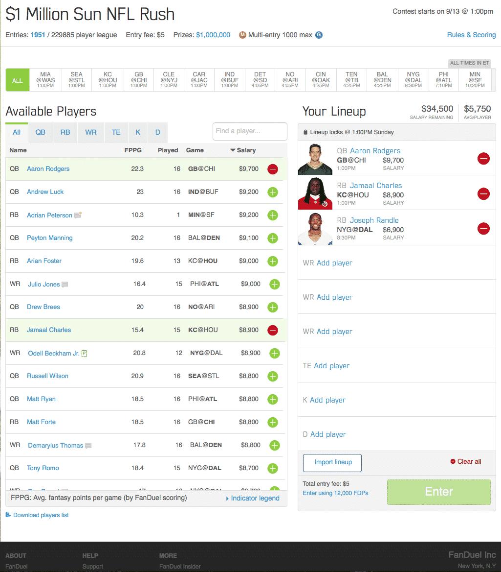 drafting a team