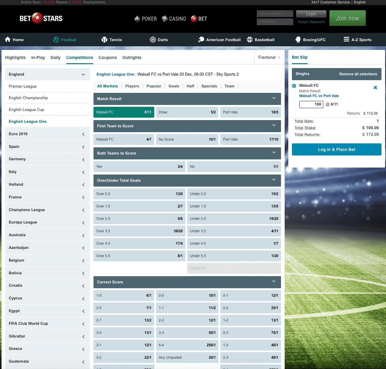 BetStars screenshot 2