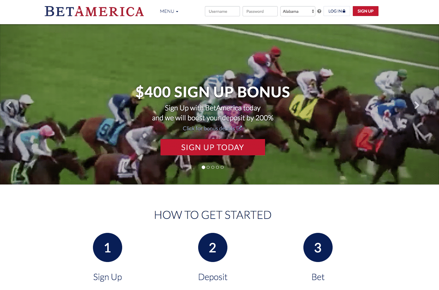 BetAmerica screenshot