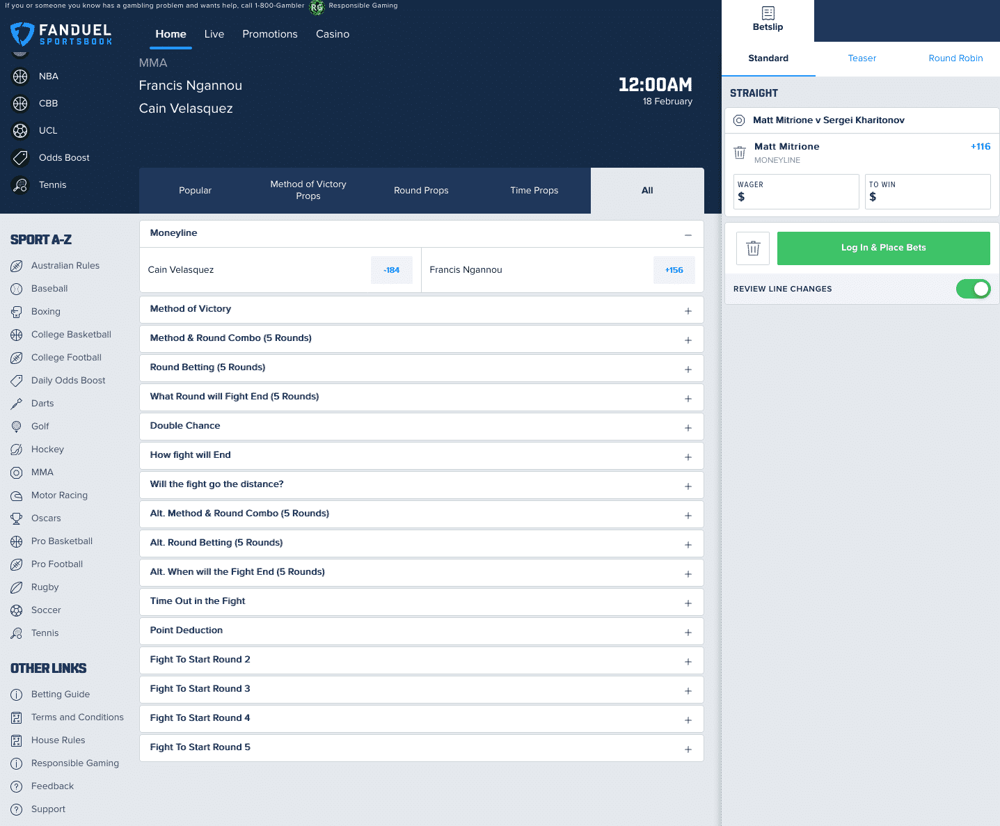 FanDuel sports betting